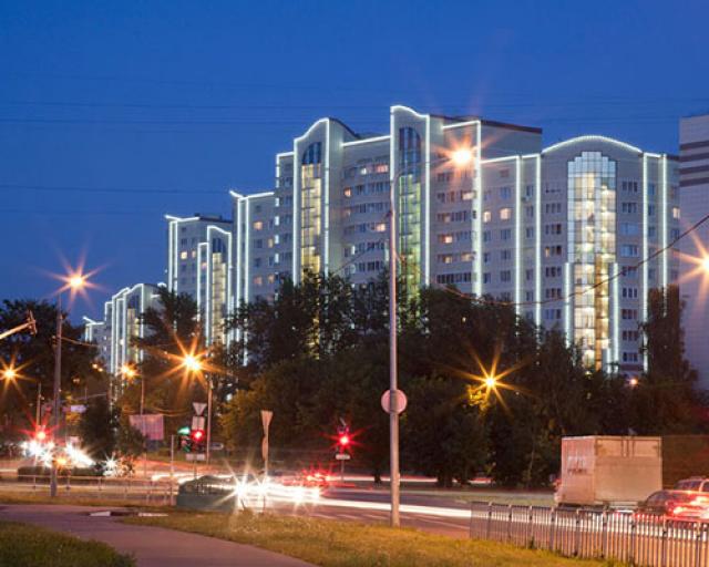 Подсветка многоэтажных домов